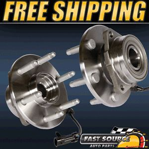 2 New Front Left Right Chevy GMC Truck Wheel Hub and Bearing Assembly Pair 4x4