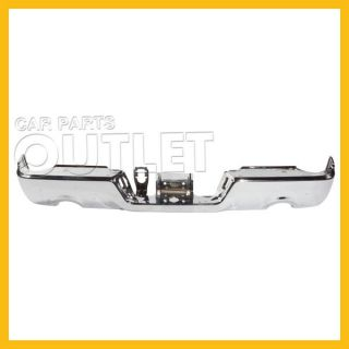 09 12 Dodge RAM R1500 Rear Chrome Bumper Step Bar Wo PDC Sensor for Dual Exhaust