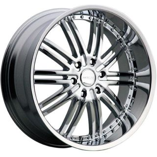 "22"" Chrome Wheels Tires 6x135 Ford F150 Expedition Navigator"