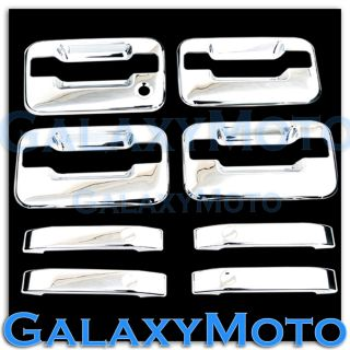 04 13 Ford F150 Triple Chrome 4 Door Handle No Keypad No PSG Keyhole Cover