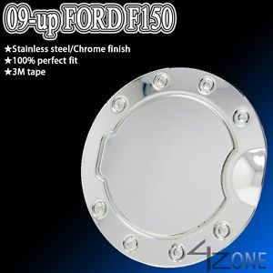 09 11 Ford F150 Fuel Gas Door Cover Cap Chrome Stainless Steel XLT Lt