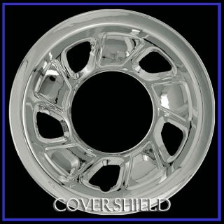 "4 PC Set 92 96 Ford Bronco F150 Truck 15"" Chrome Wheel Skin Hubcap Covers"