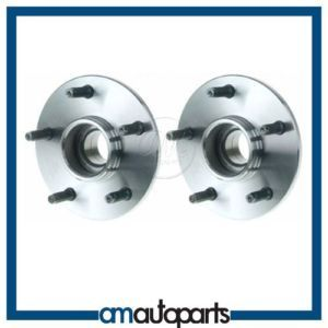 00 01 Dodge RAM 1500 Pickup Truck 2WD 2x4 Front Wheel Hub Bearing Pair Set