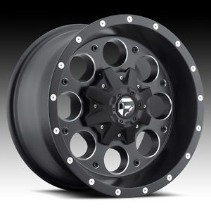 "5 16"" Fuel Revolver Black Wheels Rims Jeep Wrangler JK TJ YJ 33"" Toyo MT Tires"