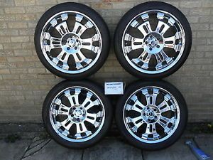 KMC Chrome Wheels and Toyo Tires 20 inch 4 5x4 75 Bolt Pattern