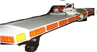 Ultra Slim LED Light Bar Lightbar Metal Case Tow Snow Cable Gas Water EMS Truck