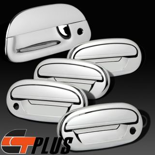 97 03 Ford F 150 Chrome Plated 4 Door Handle Tailgate Covers Combo Accent 98 99