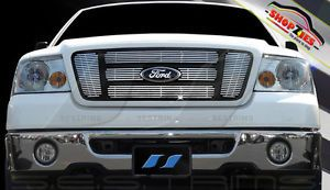 Ford F150 FX4 King Ranch STX 2004 2008 6pc Chrome Billet Grille Insert CG127A