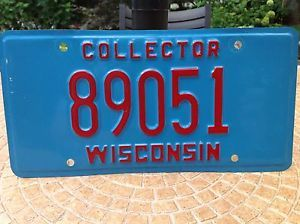 Wisconsin Collector Car Truck License Plate Car Parts Automotive Classics