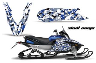 Yamaha Apex Graphic Kit AMR Racing Snowmobile Sled Wrap Decal 12 13 Skull Camo B