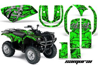 Yamaha Grizzly 660 Graphics Kit Decals Stickers Samurai BG