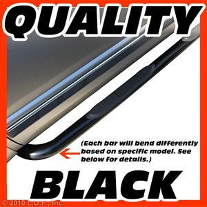 Nerf Bars Side Step Running Board Black 07 2013 Jeep Wrangler Unlimited JK 4 Dr