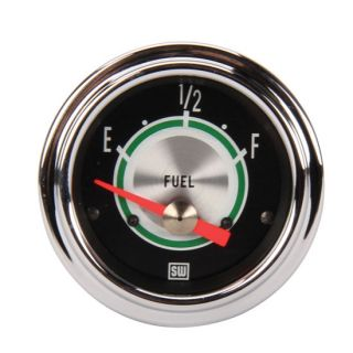 "New Stewart Warner Green Line 2 1 16"" Fuel Level Gauge 240 33 Ohm Empty Full"