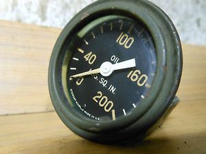 Jeep Willys MB Ford GPW WWII Stewart Warner Oil Pressure Gauge
