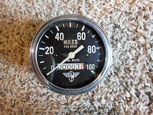 Vintage Stewart Warner Wings 100 MPH Speedo Gauge Instrument SW Hot Rod Scta