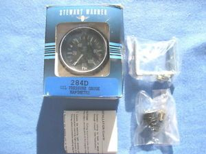 Vintage New Old Stock Stewart Warner 284D Oil Pressure Gauge