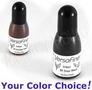 Versafine Fine Detail Pigment Reinker Stamp Ink Pad Inkpad Refill Bottle