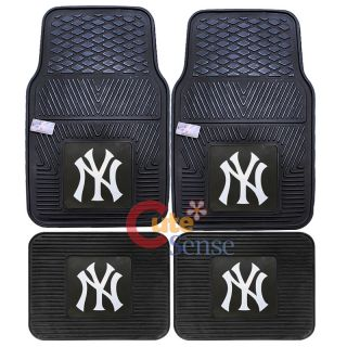 New York Yankees Car Floor Mat 4pc Utility FANMATS MLB NY Auto Accessories