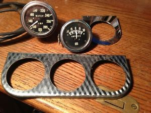 Stewart Warner Amp Meter Water Temp Gauges Mount Panel Hot Rat Rod