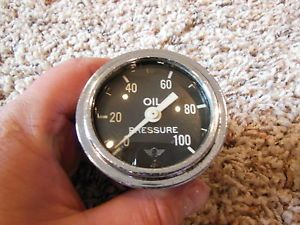 Vintage Stewart Warner Wings 100 PSI Oil Pressure Gauge Instrument Hot Rod Scta
