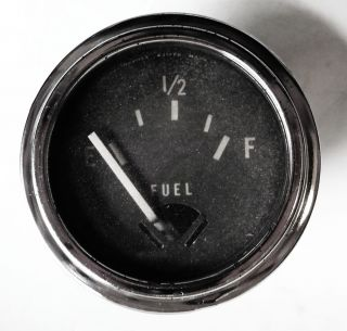Vintage Stewart Warner 12 Volt Fuel Level Gauge Fits GM Ford Mopar Others Cars