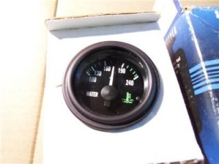 Stewart Warner Electric Water Temp Gauge 12 Volt 240 Degrees