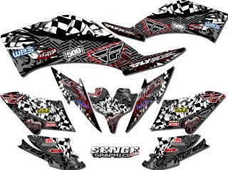 Blaster 200 BLASTER200 Yamaha Graphics Kit Deco Stickers ATV Quad Fly Racing