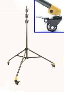 Linco Flora Heavy Duty 8ft Studio Light Stand with Lockable Wheels Casters 8308