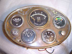 Vintage Rat Rod Hotrod Boat Dash w Stewart Warner Gauges 1932 1934 1936 Model A