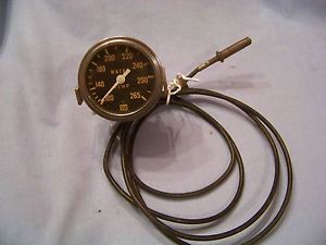 Vintage Stewart Warner Water Temperature Gauge 826332