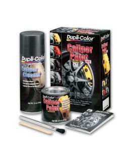 Dupli Color BCP402 Racing Black Satin Brush on Brake Caliper Paint Kit