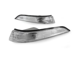 90 91 Mitsubishi Eclipse Eagle Talon Chrome Clear Headlights Bumper Signals