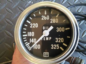 Stewart Warner Deluxe Oil Temp Gauge Mechanical 2 5 8 inch Racecar Boat