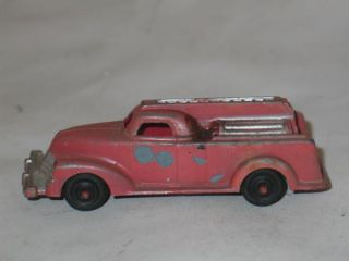 Vintage Manoil 709 Diecast Fire Engine Truck Antique Toy Car 1940s Pumper Old