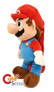 "Super Mario Brothers Fire Mario Plush Doll Backpack 19"" Costume Bag Licensed"