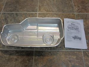 Vintage 1980 Wilton Free Wheelin Truck Cake Pan Pickup RV camper Instructions