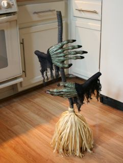 Halloween Animated Sound Activated Dancing Witch Broom