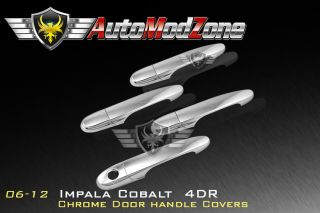 06 12 Chevy Impala Cobalt 4DR Chrome Door Handle Cover Covers