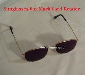 Sunglasses for Bee Marked Cards Mind Reader Close Up Card Mentalism Magic Trick
