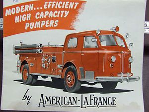 "American LaFrance 700 Series Fire Engine Brochure ""High Capacity Pumpers"" 10 49"