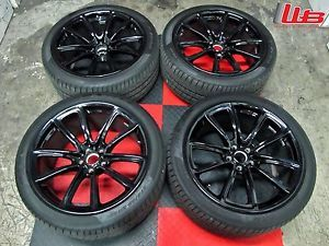 "Bentley Continental Supersports 20"" Wheels RARE Gloss Black SS Rims Tires"