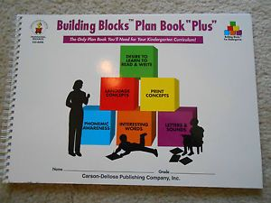 "Building Blocks Plan Book ""Plus"" Kindergarten Carson Dellosa CD 8208"