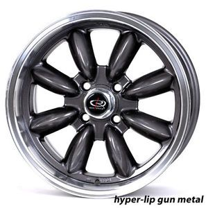16 Rota RB Gunmetal Rims Wheels Tires Mini Cooper 195 55 16 Falken 912