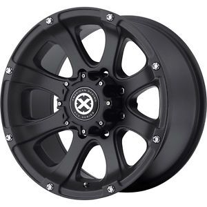 "17"" Black Wheels Tires 8x170 Ford F250 Excursion Falken at Wild 265 70 17 XD ATX"