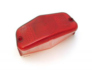 ★ Emgo Lucas Style Motorcycle Tail Light Replacement Lens • 62 21530 • Classic ★