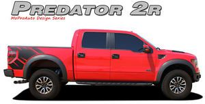 Predator 2R Raptor Style Side Bed Graphics Decals Stripes 11 12 2013 Ford Raptor