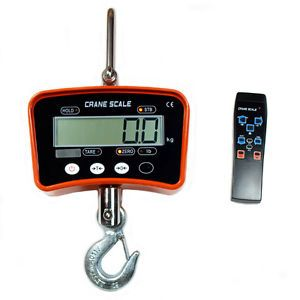 1000 KG 2000 lbs Digital Crane Scale Heavy Duty Hanging Scale with Remote