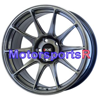 18 XXR 527 Chromium Black Wheels Rims Concave Staggered 03 04 07 08 Nissan 350Z