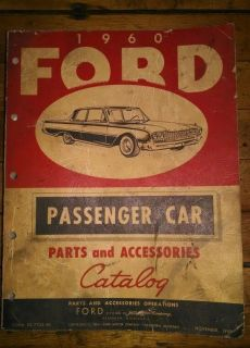 1960 Ford Passenger Car Parts Accessories Catalog Manual Form FD 7752 60