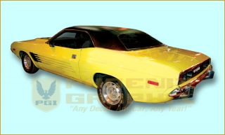 1972 1973 1974 Dodge Challenger Strobe Stripes Decals Stripes Kit